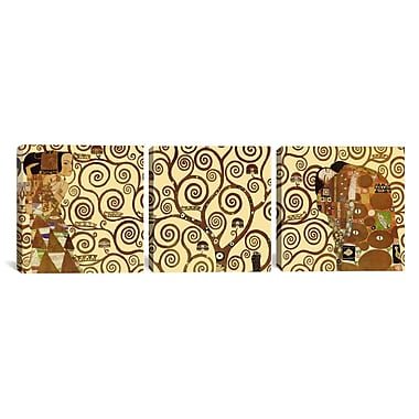 iCanvas The Tree of Life by Gustav Klimt 3 Piece Painting Print on Wrapped Canvas Set