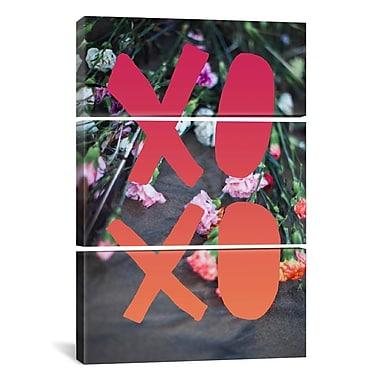 iCanvas Leah Flores Xoxo 3 Piece Graphic Art on Wrapped Canvas Set; 90'' H x 60'' W x 1.5'' D