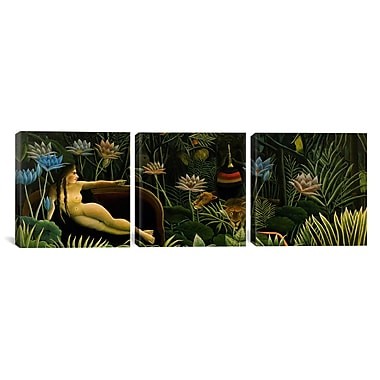 iCanvas Henri Rousseau The Dream 3 Piece Painting Print on Wrapped Canvas Set