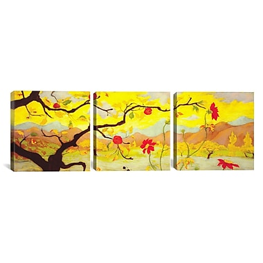 iCanvas Paul Ranson Apple Tree w/ Fruit 3 Piece Painting Print on Wrapped Canvas Set