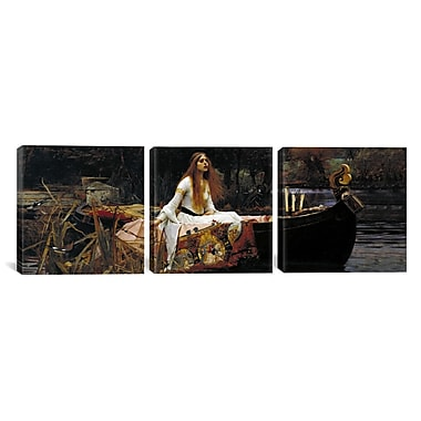 iCanvas The Lady of Shalott by John William Waterhouse 3 Piece Painting Print on Wrapped Canvas Set