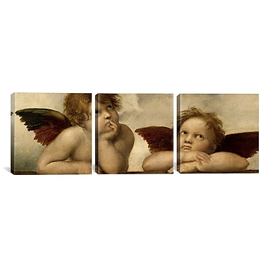iCanvas Raphael The Two Angels 3 Piece on Wrapped Canvas Set; 16'' H x 48'' W x 0.75'' D