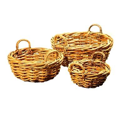 Kenian 3 Piece Bali Round Basket Set