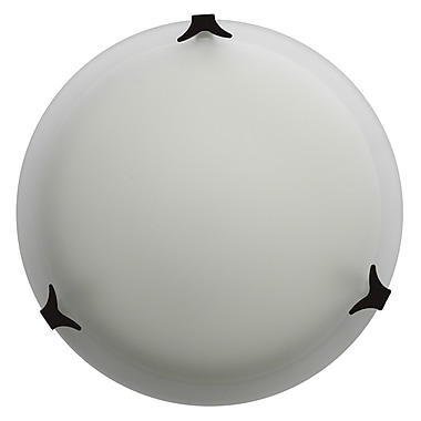 Whitfield Lighting Donna 2-Light Flush Mount; Ebony Bronze
