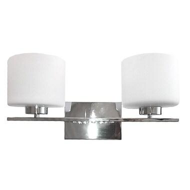 Whitfield Lighting Jaelyn 2-Light Vanity Light; Chrome
