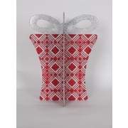 Queens of Christmas 13.5'' 3D Gift Box Set; Red/Silver