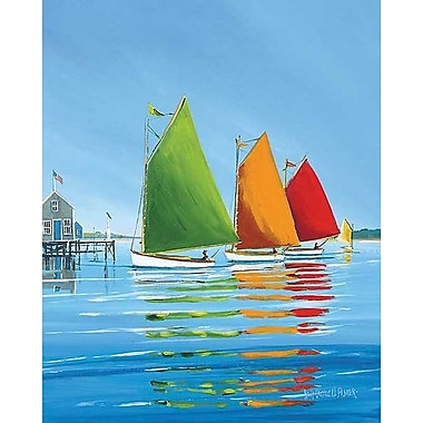 Printfinders Cape Cod Sail by Sally Caldwell Fisher Painting Print on Wrapped Canvas