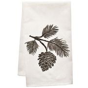 Artgoodies Organic Block Print Pinecone towel