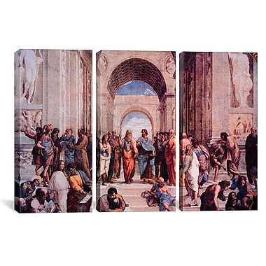 iCanvas Raphael School of Athens 3 Piece Painting Print on Wrapped Canvas Set