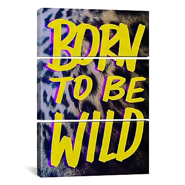 iCanvas Born to Be Wild II by Leah Flores 3 Piece Photographic Print on Wrapped Canvas Set