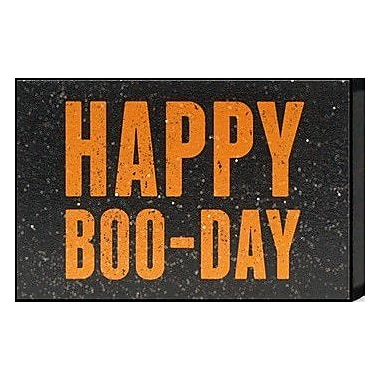 Artistic Reflections Just Sayin 'Happy Boo-Day' by Tonya Textual Art Plaque