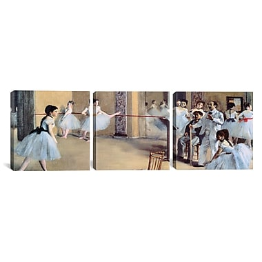 iCanvas The Dance Foyer At The Opera by Edgar Degas 3 Piece Painting Print on Wrapped Canvas Set