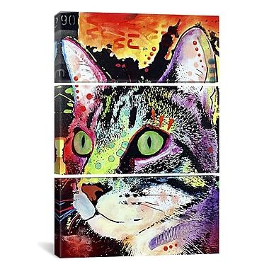 iCanvas Dean Russo Curiosity Cat 3 Piece on Wrapped Canvas Set; 90'' H x 60'' W x 1.5'' D