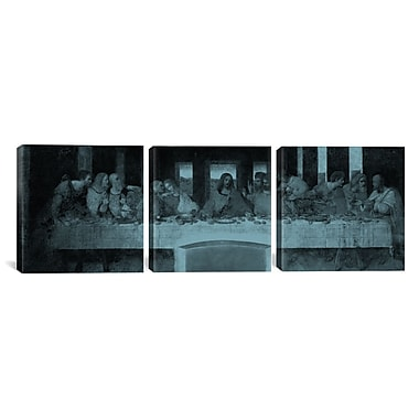 iCanvas The Last Supper III by Leonardo da Vinci 3 Piece Painting Pring on Wrapped Canvas Set