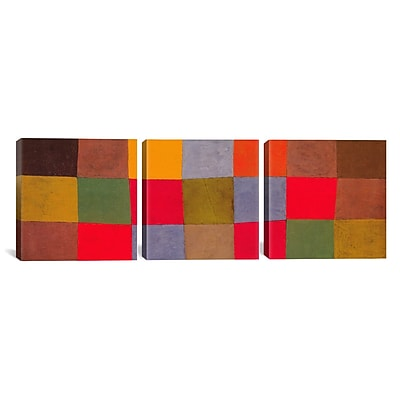 iCanvas New Harmony by Paul Klee 3 Piece Painting Print on Wrapped Canvas Set