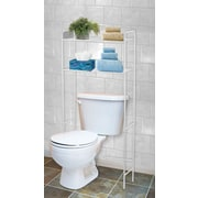 Home Basics 23'' W x 54'' H Over the Toilet Storage; White