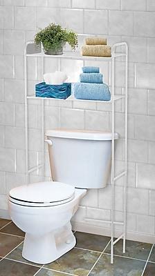 Home Basics 23'' W x 54'' H Over the Toilet Storage; White