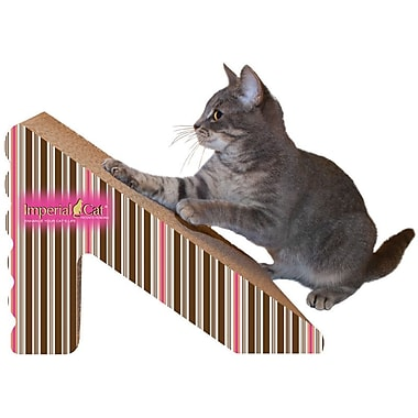 Imperial Cat Scratch 'n Shapes Rub & Ramp Recycled Paper Scratching Post; Stripe D