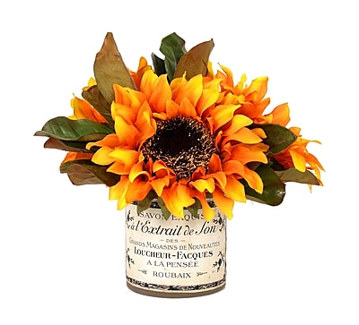 Creative Displays, Inc. Sunflower Bouquet French Label