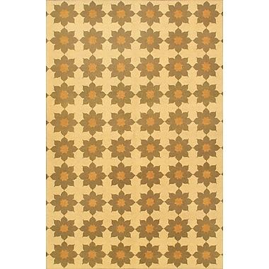 ECARPETGALLERY Beige/Cream Floral Lahor Finest Area Rug