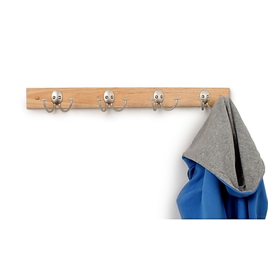 Spectrum Diversified Stratford Wood Rack 4-Double Wall Hook