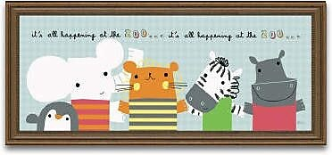 Timeless Frames Its All Happening at The Zoo II Framed Graphic Art