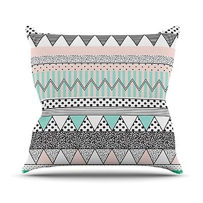 KESS InHouse Chevron Motif Throw Pillow; 18'' H x 18'' W