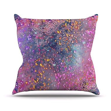 KESS InHouse Pink Universe Throw Pillow; 18'' H x 18'' W