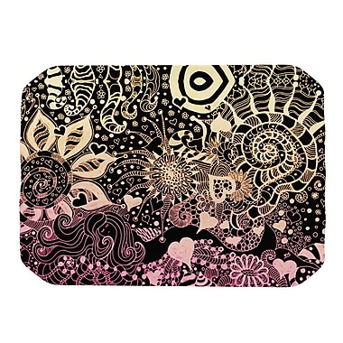 KESS InHouse Placemat; Black / Gold