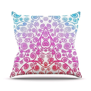 KESS InHouse Safe and Sound Throw Pillow; 18'' H x 18'' W