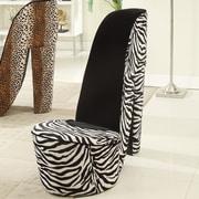 Williams Import Co. Zebra High Heel Lounge Chair