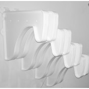 EZ SHELF from Tube Technology 8 End Brackets for Closet Rod and Shelf (Set of 8); White