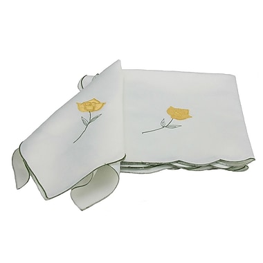 Xia Home Fashions Rose Embroidered Napkin (Set of 4)