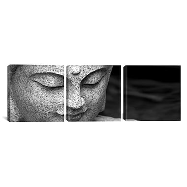 iCanvas Photography Chinese Buddha 3 Piece on Wrapped Canvas Set; 24'' H x 72'' W x 1.5'' D