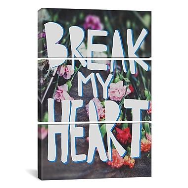 iCanvas Leah Flores Break My Heart 3 Piece on Wrapped Canvas Set; 90'' H x 60'' W x 1.5'' D