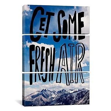 iCanvas Leah Flores Fresh Air II 3 Piece on Wrapped Canvas Set; 60'' H x 40'' W x 0.75'' D