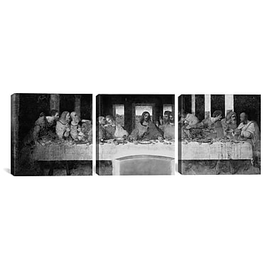 iCanvas The Last Supper II by Leonardo da Vinci 3 Piece Painting Print on Wrapped Canvas Set
