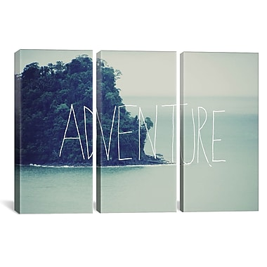 iCanvas Leah Flores Adventure Island 3 Piece Graphic Art on Wrapped Canvas Set