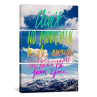 iCanvas Leah Flores Ain't No Mountain 3 Piece Graphic Art on Wrapped Canvas Set