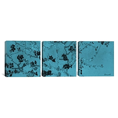 iCanvas Almond Blossom II by Vincent van Gogh 3 Piece Painting Print on Wrapped Canvas Set