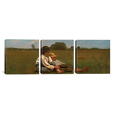 iCanvas Boys In a Pasture by Winslow Homer 3 Piece Painting Print on Canvas Set