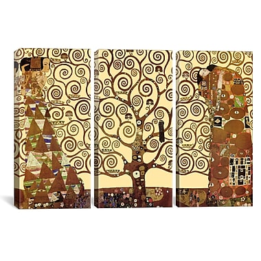 iCanvas The Tree of Life by Gustav Klimt 3 Piece Graphic Art on Wrapped Canvas Set