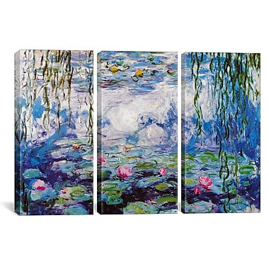 iCanvas Claude Monet Nympheas 3 Piece on Wrapped Canvas Set; 40'' H x 60'' W x 1.5'' D