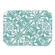 KESS InHouse Swirling Tiles Teal Placemat