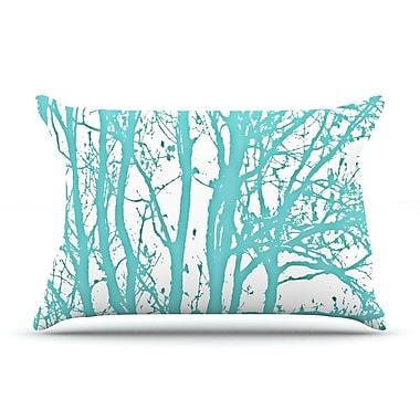 KESS InHouse Mint Trees Pillow Case; Standard