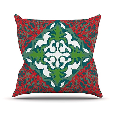 KESS InHouse Lace Flakes Throw Pillow; 26'' H x 26'' W