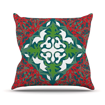 KESS InHouse Lace Flakes Throw Pillow; 26'' H x 26'' W