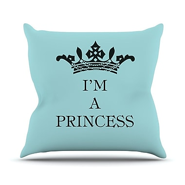 KESS InHouse Im A Princess Throw Pillow; 16'' H x 16'' W
