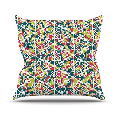KESS InHouse Cool Yule Throw Pillow; 16'' H x 16'' W