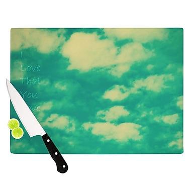 KESS InHouse I Love That You Love Me Cutting Board; 11.5'' H x 15.75'' W x 0.15'' D